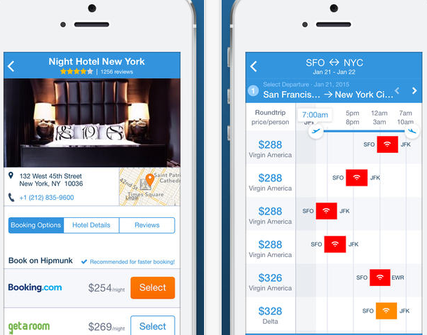 Apps to find Cheap Flights on your mobile - Hipmunk app