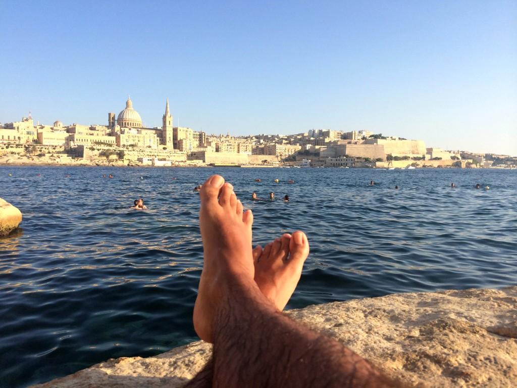 Malta by public transport - A view to La Valletta