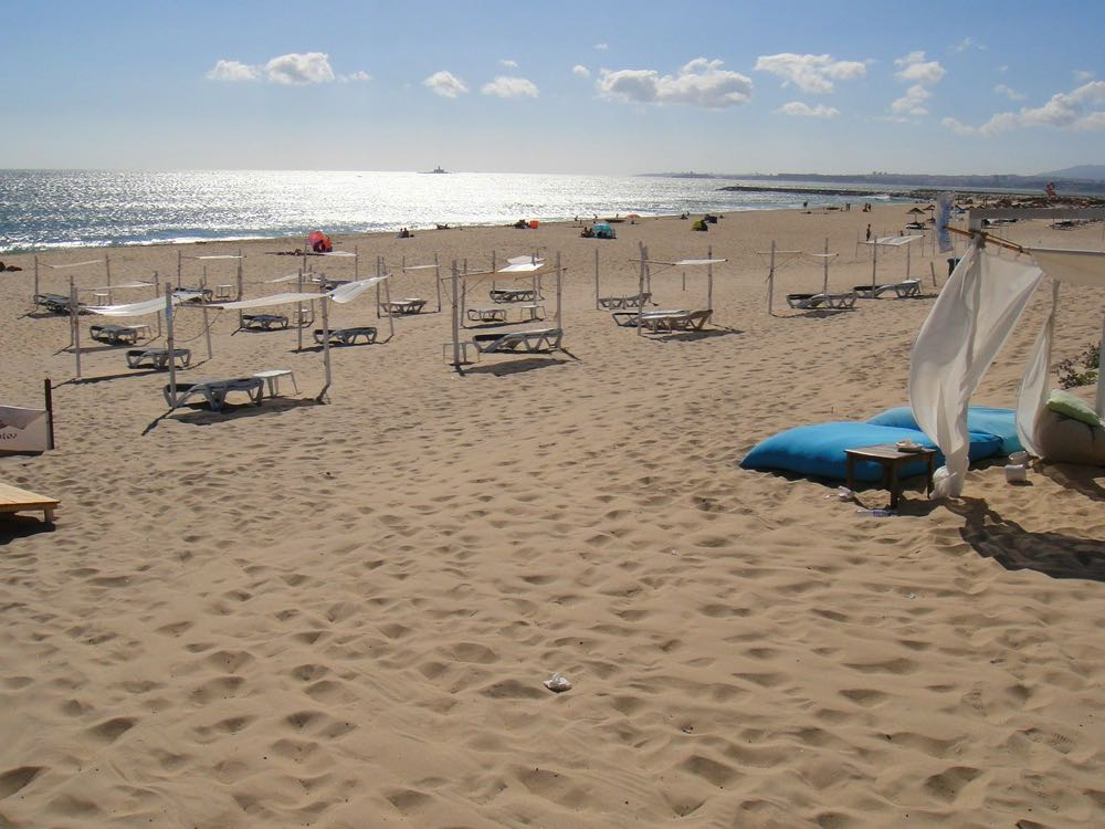 best beaches lisbon caparica coast