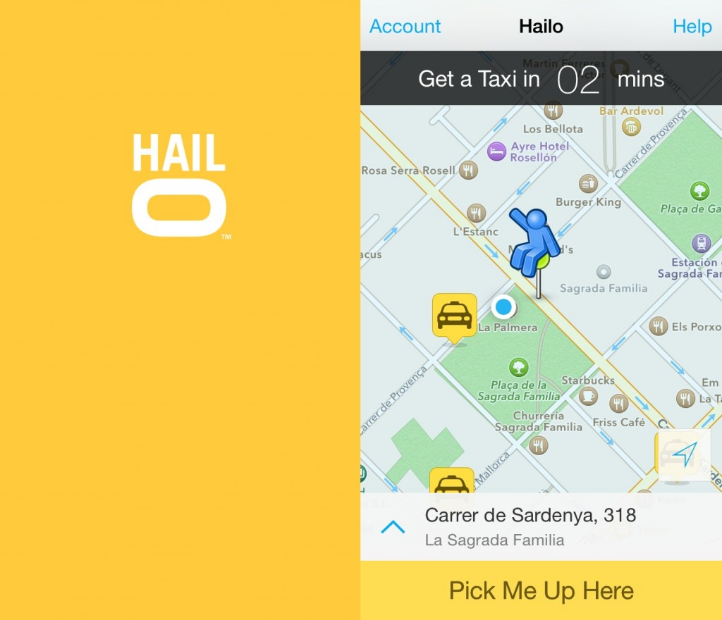 essential apps for travellers - Hailo app