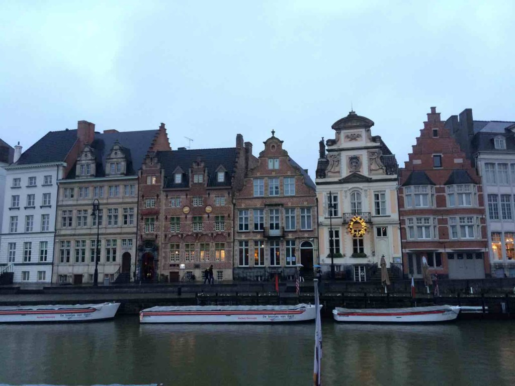 city of ghent -Old merchant houses.