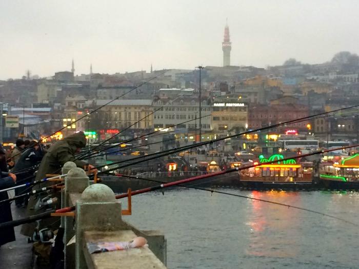 famous sights in Istanbul - Fishermen Galata Bridge