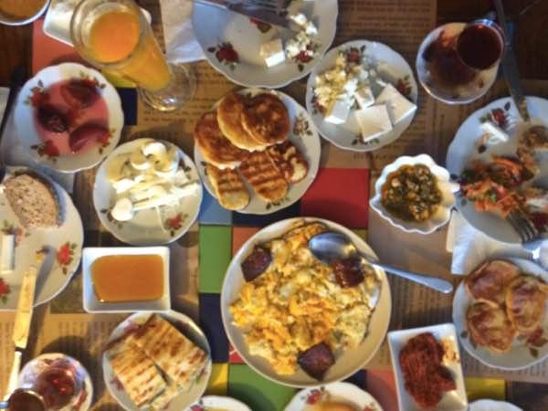 famous sights in Istanbul - Turkish Breakfast