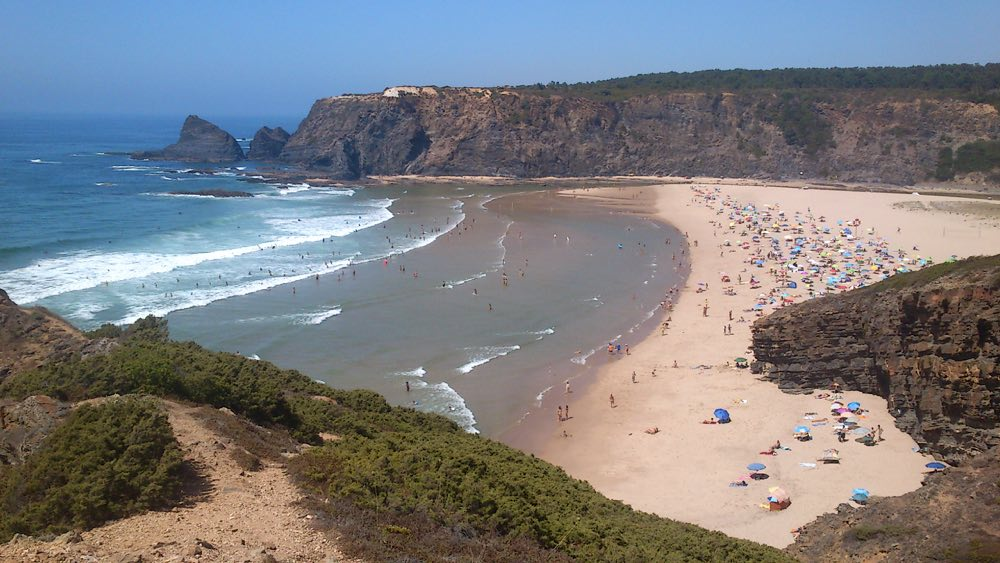 road trip in Portugal coast - Odeceixe beach