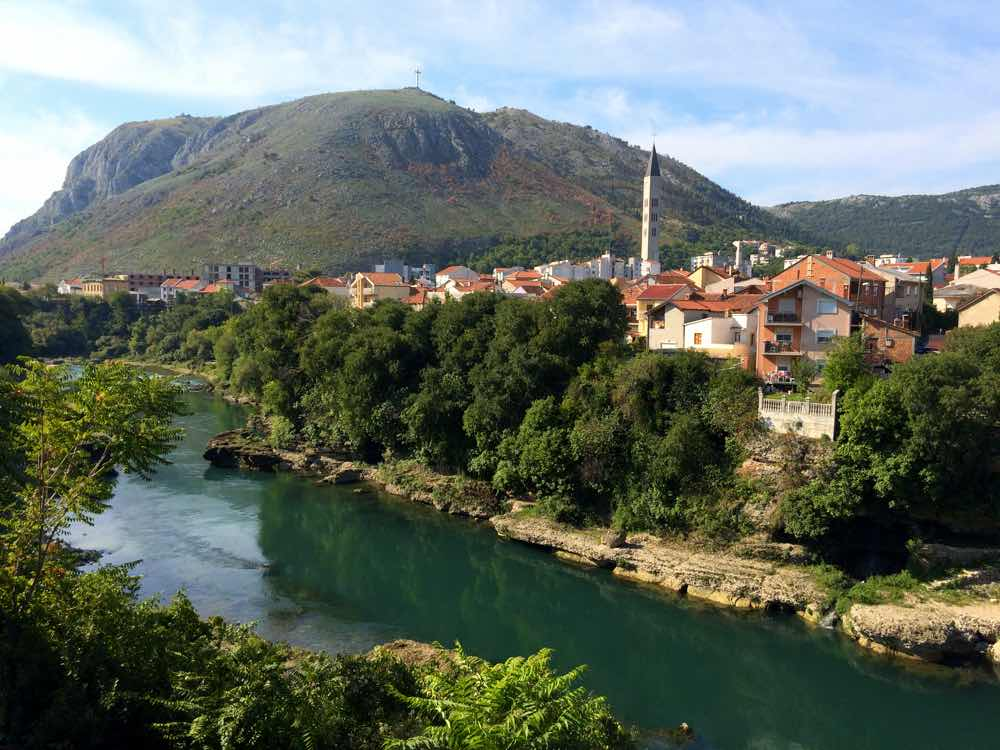 Day trip to Mostar Bosnia - Naretva River View