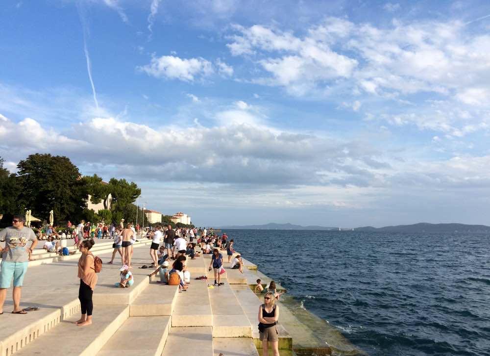 Experiences in the Dalmatian coast - Sea Organ in Zadar