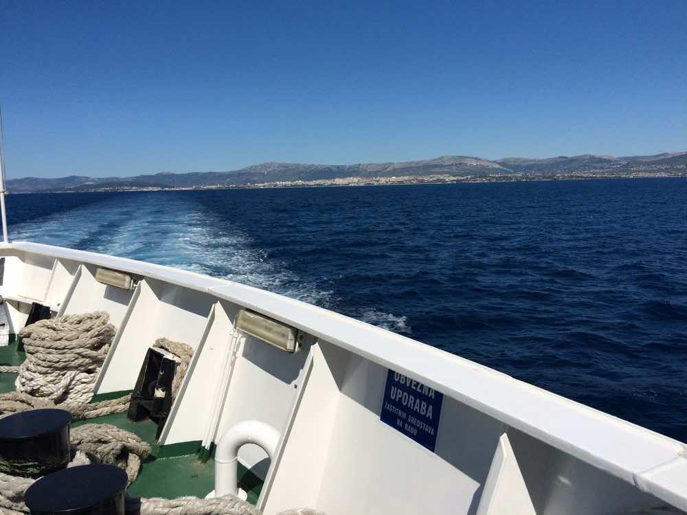 croatia road trip guide - ferry split to brac