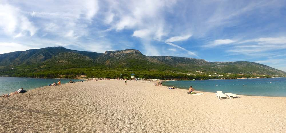 Zlatni Rat beach brac island croatia overview