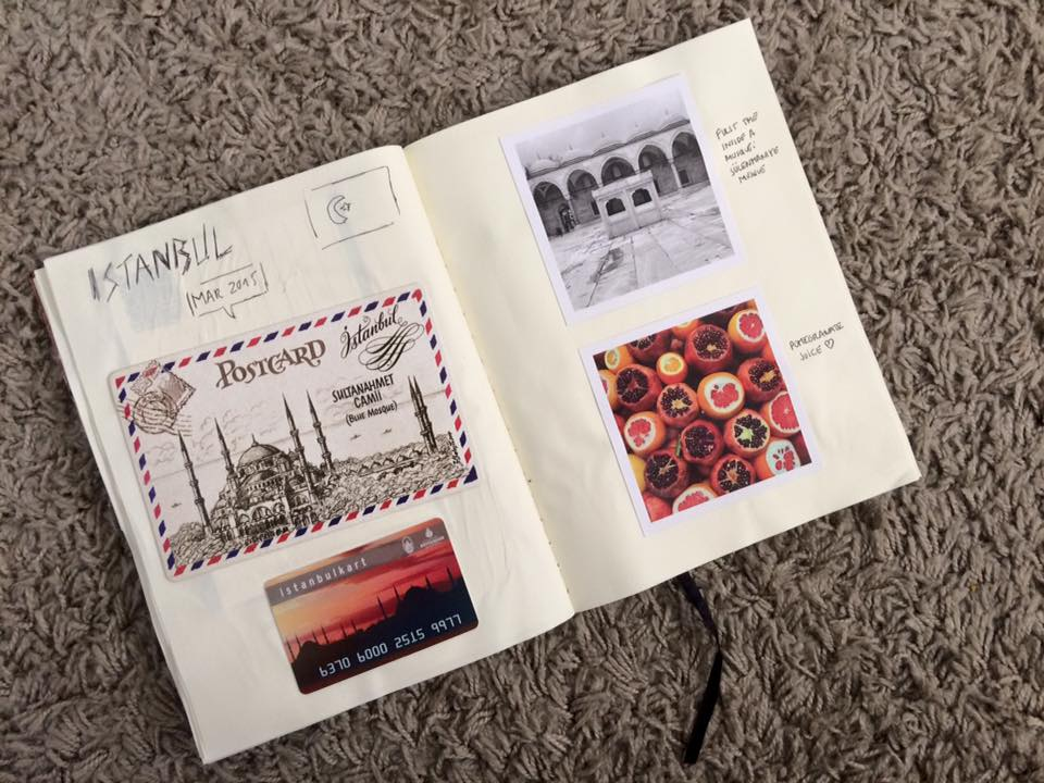 travel memories ideas scrapbook journal