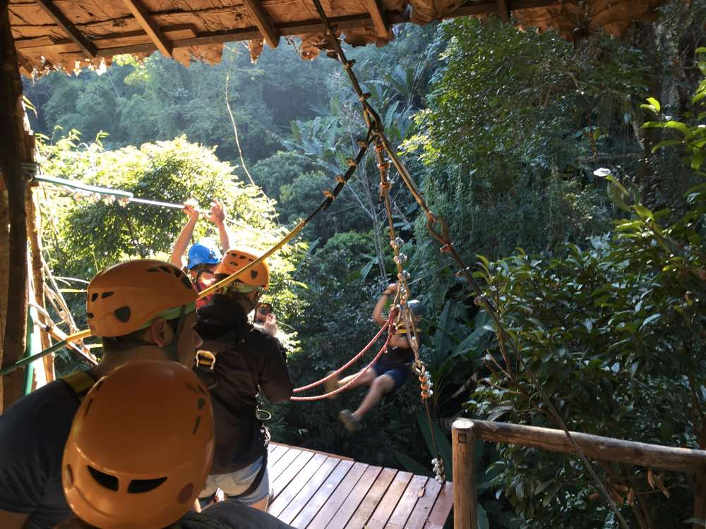 first time zip lining chiang mai line 3