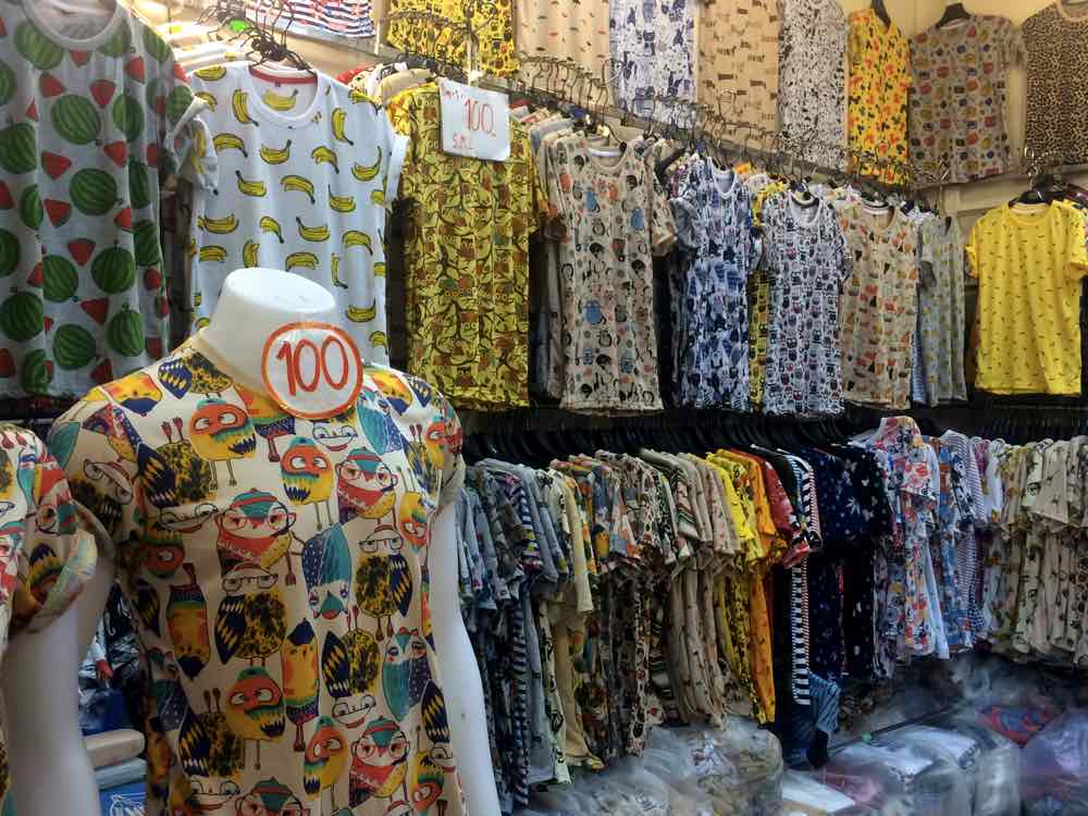 bangkok shopping guide platinum tshirts patterns