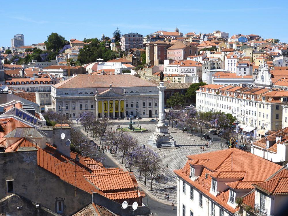porto or lisbon baixa downtown lisbon rossio