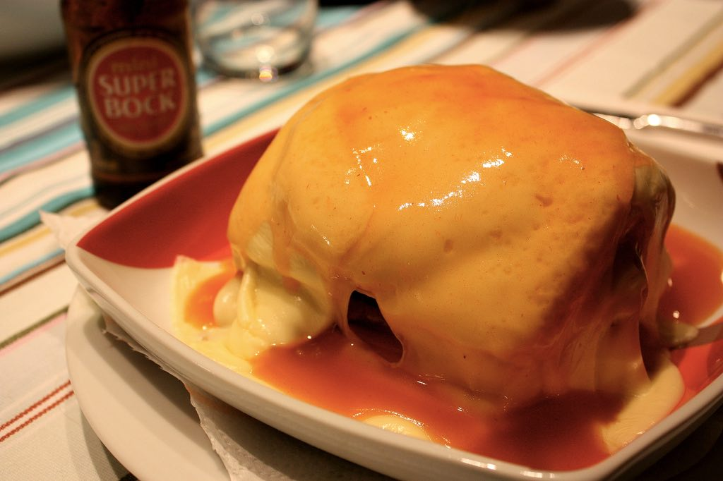 porto or lisbon food portugal francesinha