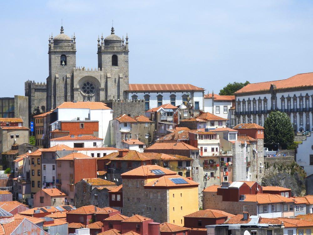 porto or lisbon porto sé  rooftops