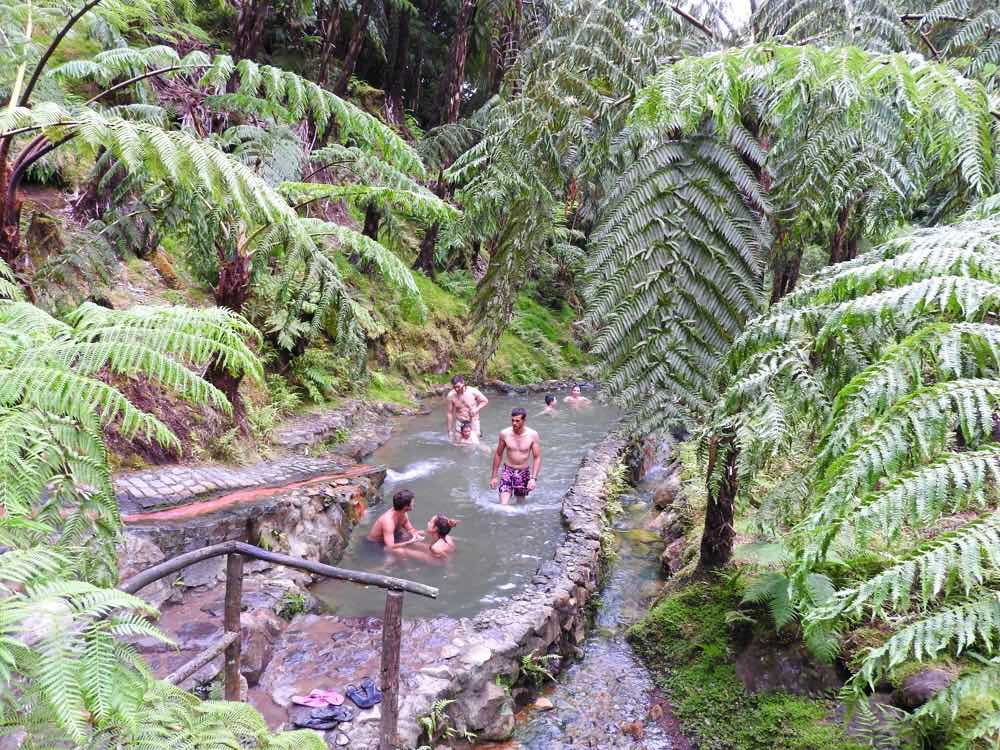 what to do sao miguel hot springs