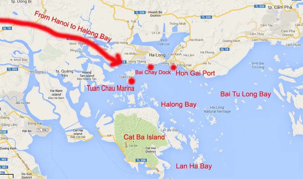 how to choose best halong bay cruise map bays
