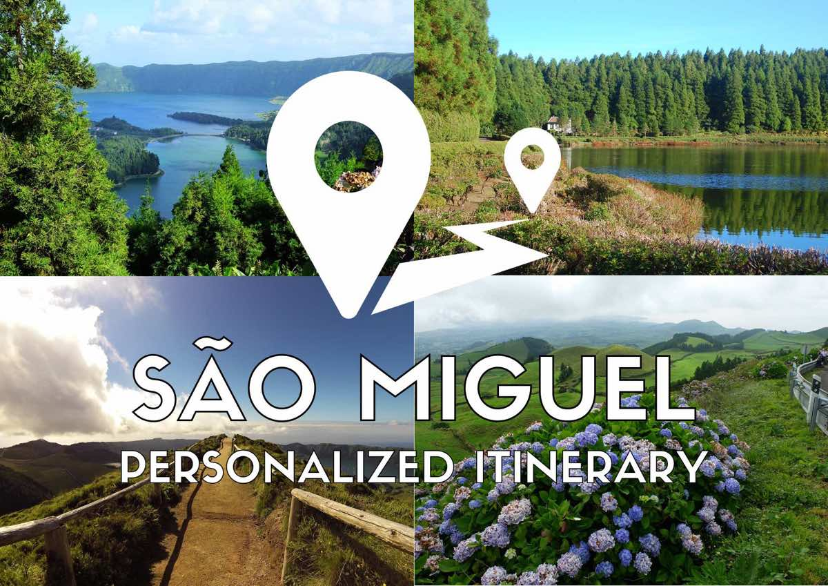 sao miguel itinerary where to go - personalized itinerary