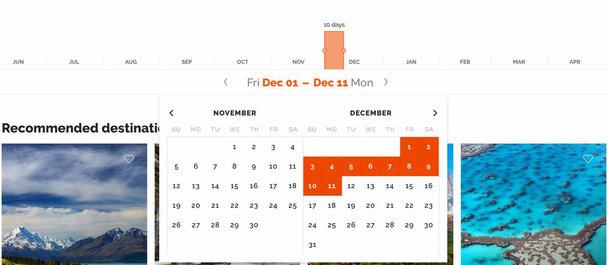 how to know when to travel anywhere in december