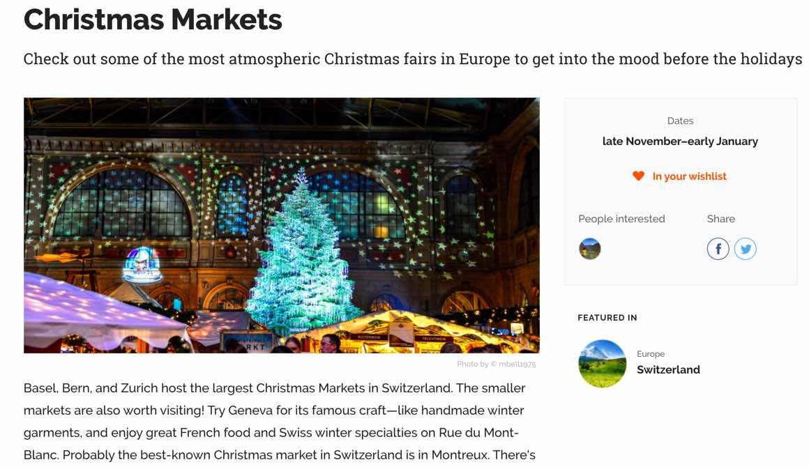 how to know when to travel anywhere christmas markets switzerland