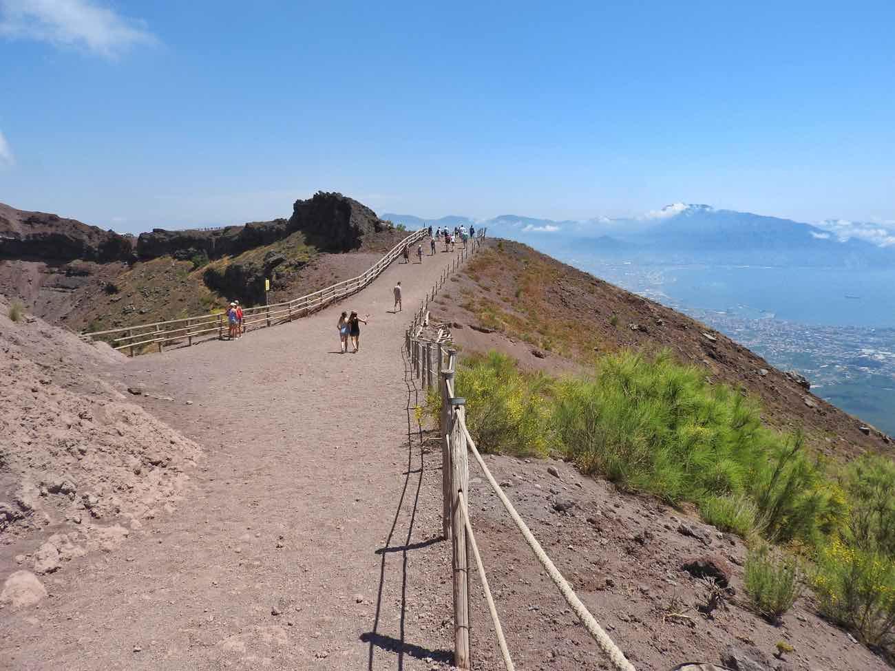 how to plan naples italy amalfi coast pompeii vesuvius - top of vesuvius crater