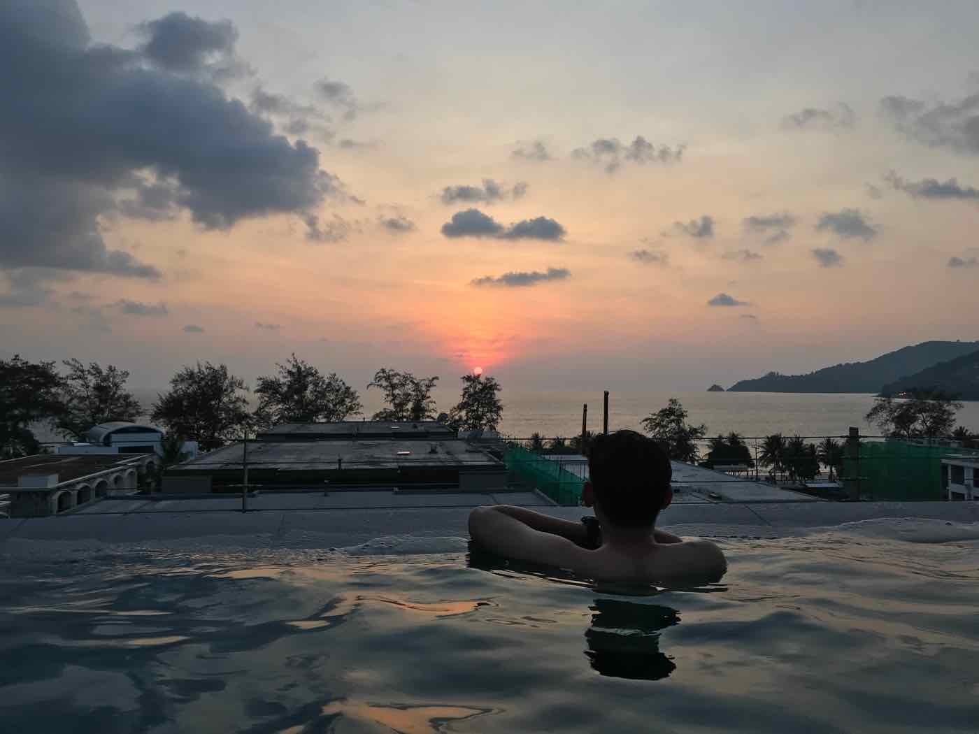 Thailand Island hopping phuket sunset pool