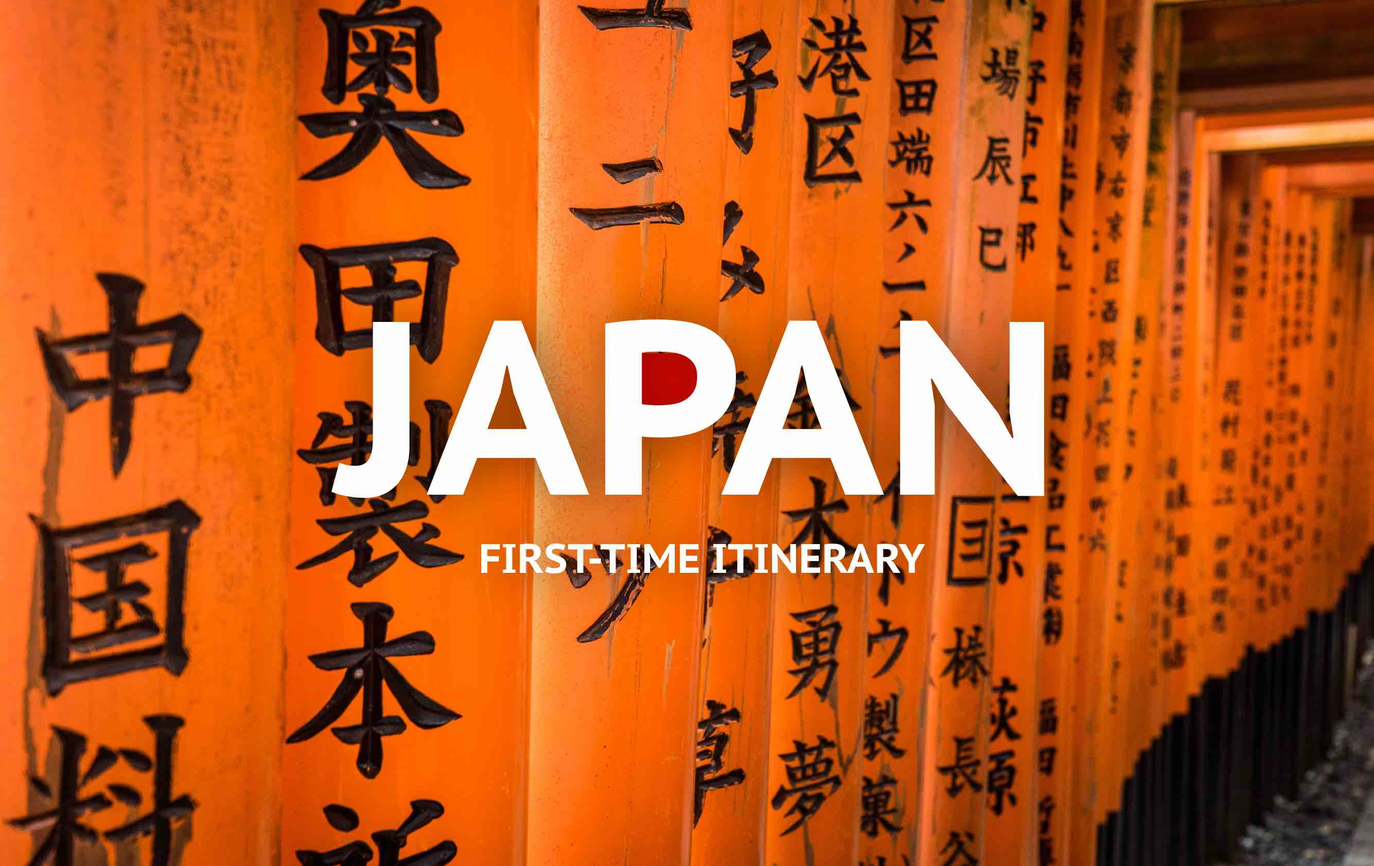 japan itinerary two weeks for first timers