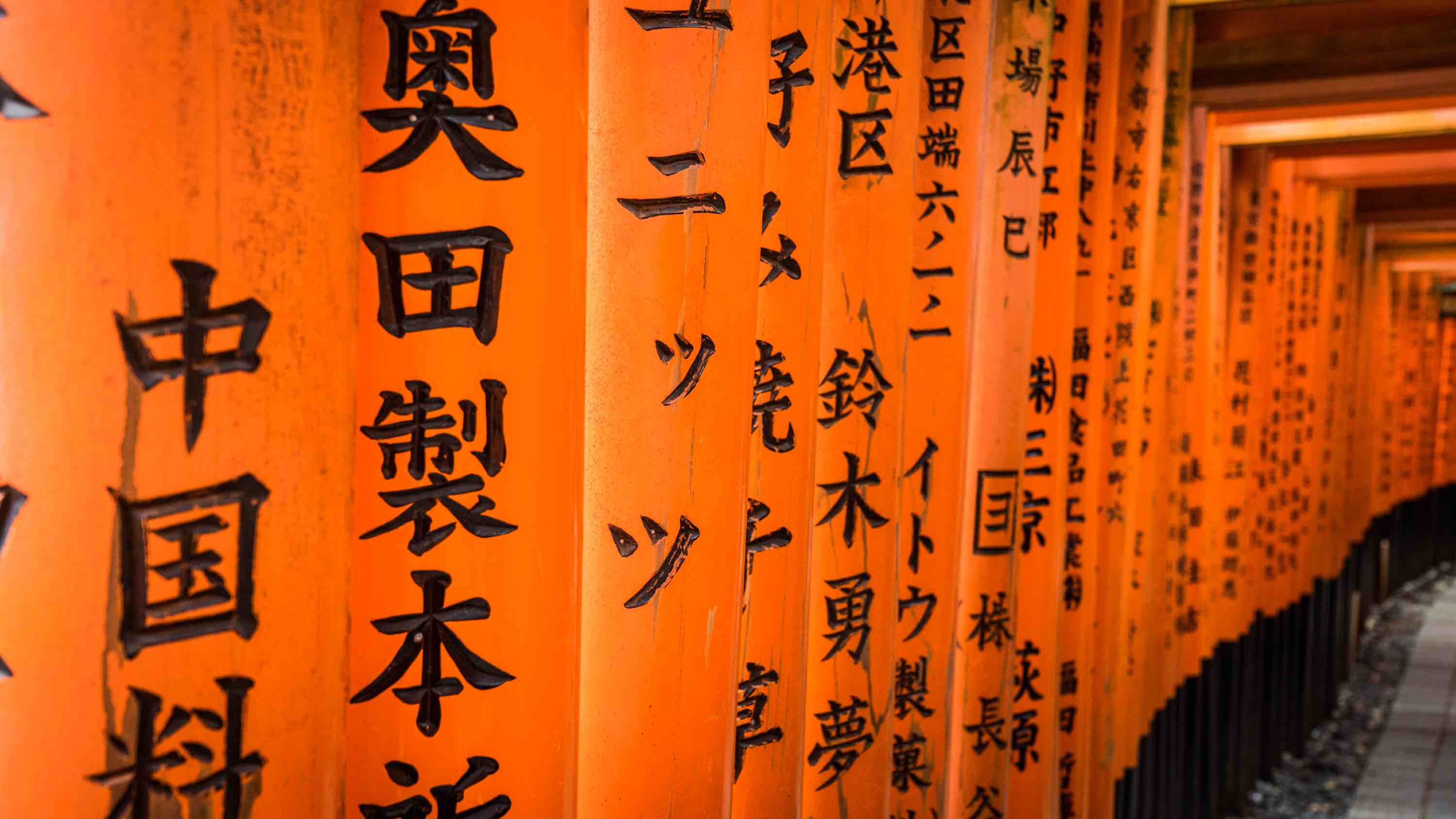 two weeks japan itinerary fushimi inari torii closeup