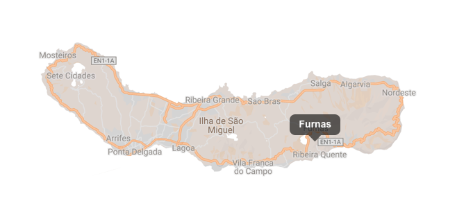 Furnas Azores Sao Miguel map