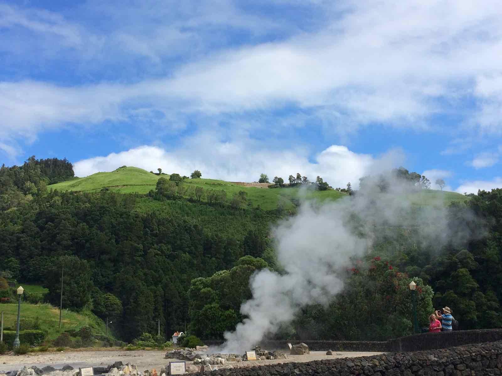 Furnas caldeiras azores springs geysers