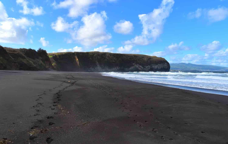 azores areal santa barbara beach sao miguel