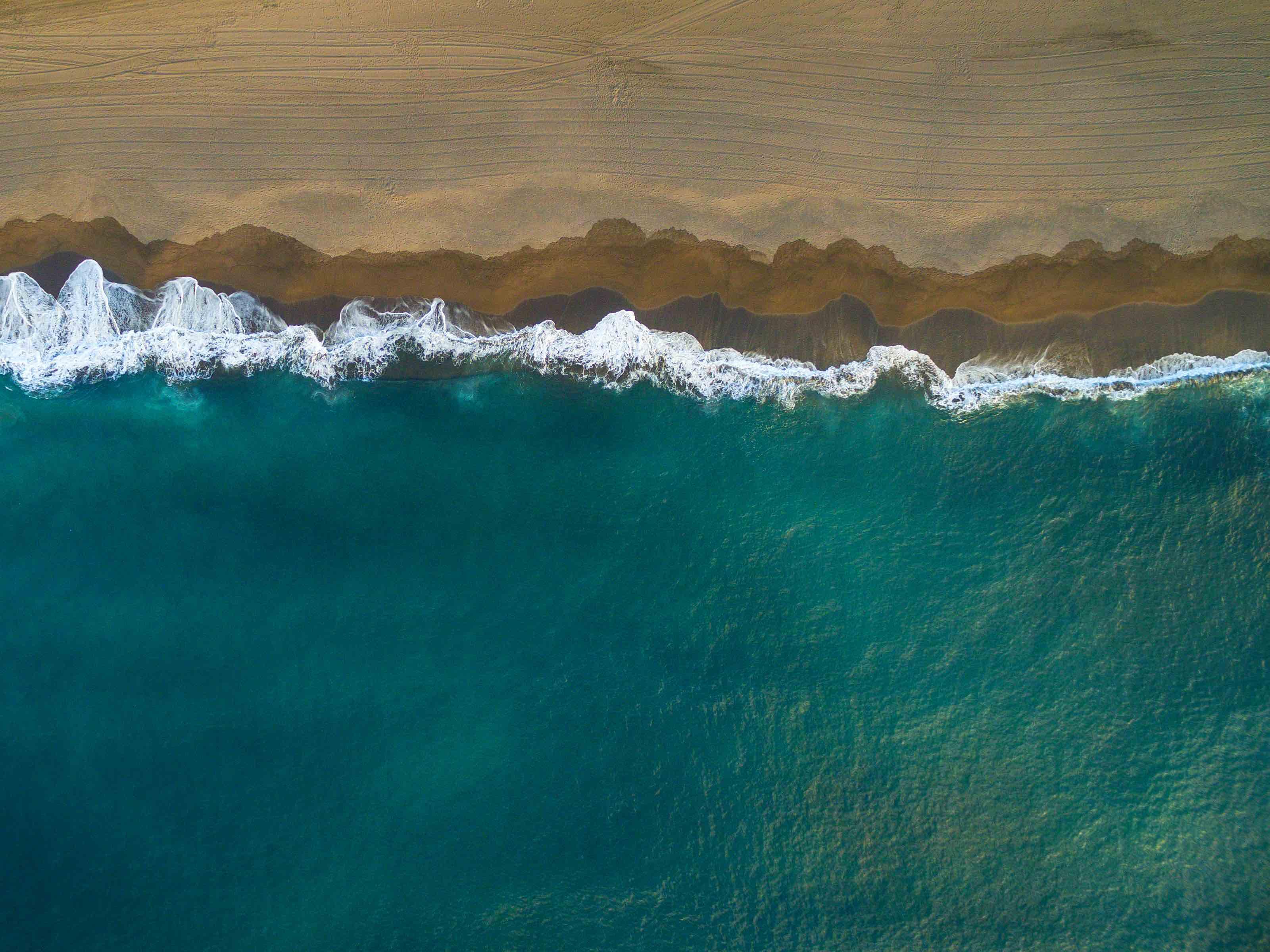 azores beaches drone
