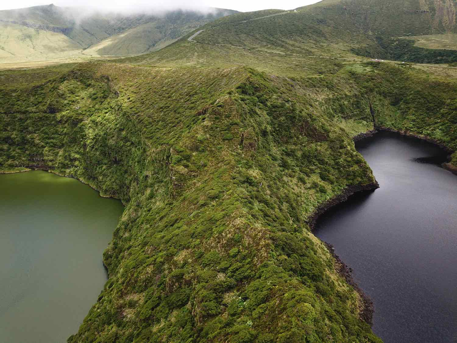 flores island azores things to do lagoa negra comprida