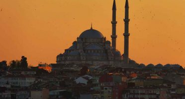 istanbul mosques sunset