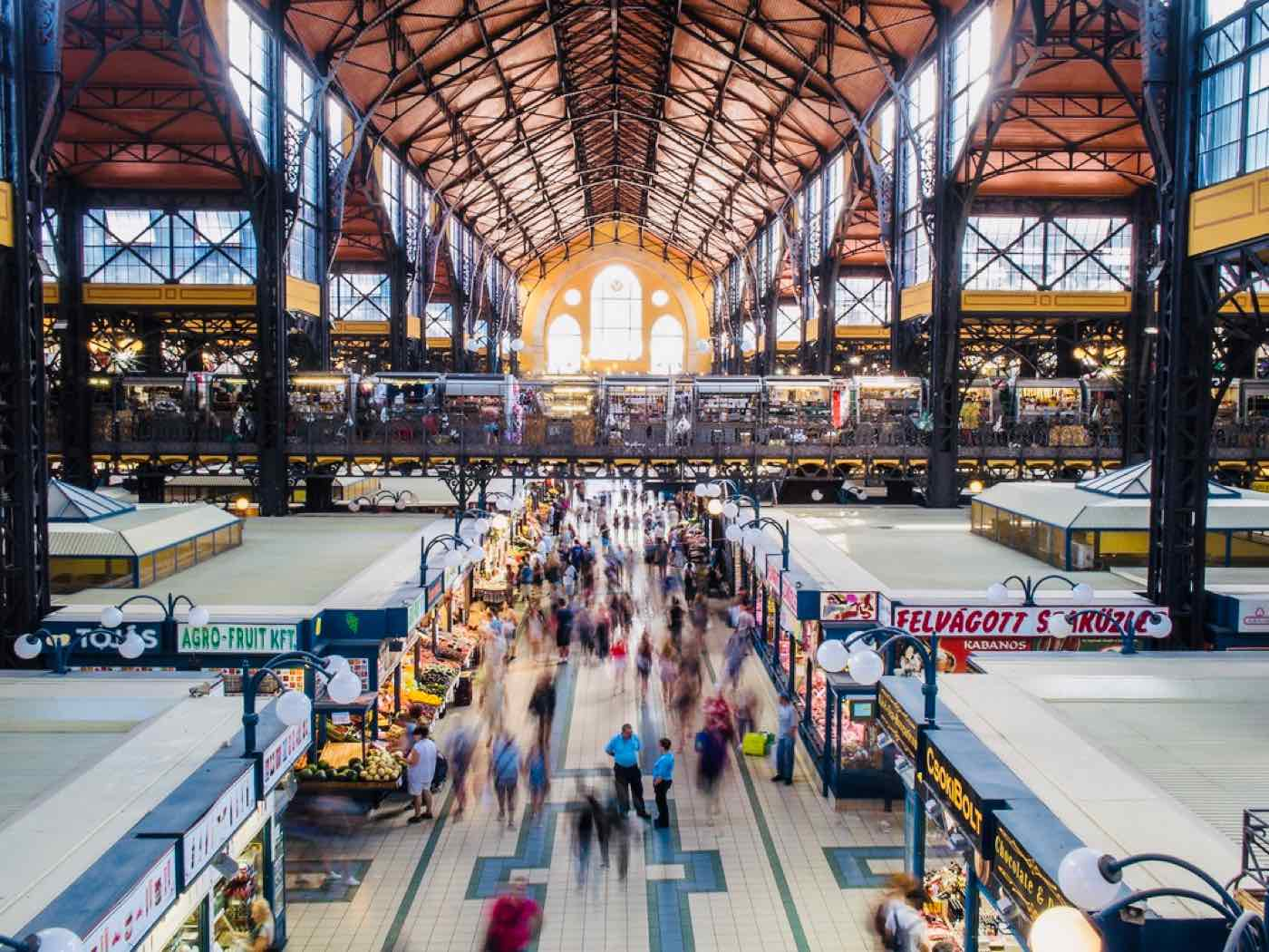 unique things to do budapest central market hall