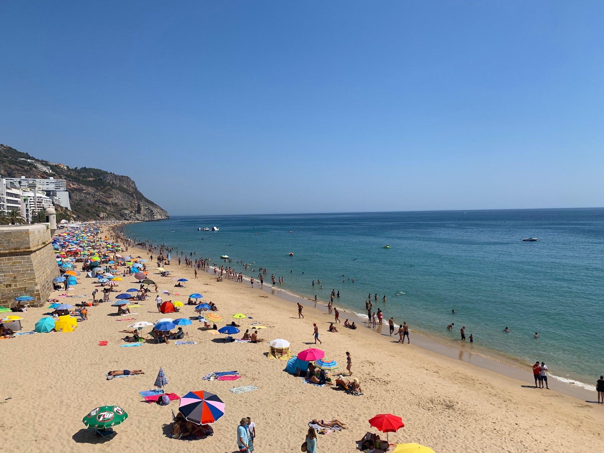 best beaches around Lisbon - Sesimbra beach